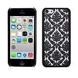 Best Cases For I Phone 5c Black - MChoice Carved Damask Vintage Pattern Matte Hard Case Review