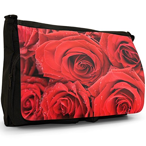 Fancy A Bag Borsa Messenger nero Red Rose Passion Red Rose Passion