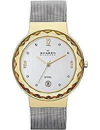 Skagen SKW2002 - Reloj analógico de cuarzo para mujer con correa de acero inoxidable, color plateado