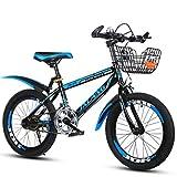 Xi Man Shop Kinderfahrrad Mountainbike Fahrrad des Jungen Mädchen Fahrrad 18〃/20〃/22〃 (Color : Blue, Size : 18in)