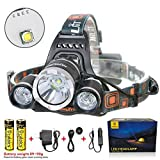 Boruit Headlamp Headlight 5000 LM with 3...