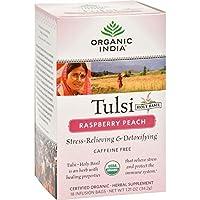 Raspberry Peach Tulsi Tea by Organic India - 18 tea bags