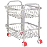 vpsk Vegetable and Fruit Trolly with 2 Stand (19 Inch)