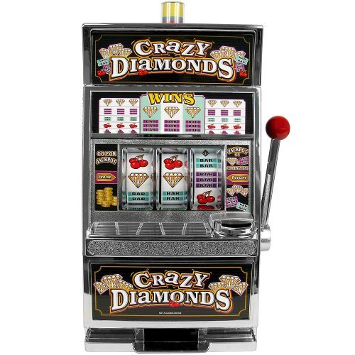 c283e95ff16 RecZone Crazy Diamonds Slot Machine Bank - Authentic Replication by  Trademark Global - Toys