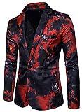 Bevalsa Modisch Herren Anzug Jacke Sakko Slim Fit Blazer Business Freizeit Smoking Einfarbig Weihnachten Kostüme Festliche Sakko Grösse 48-56