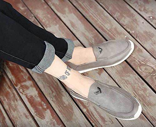 Insun , Chaussures bateau pour homme Gris