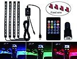 48 LED Musical Interior RGB Atmosphäre Beleuchtung Lichtleiste Für Auto mit USB Port Auto Ladegerät IR und Sprachsteuerung