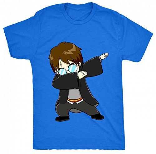 8TN Dabbing Harry Dab - Funny Kids Fan Potter Wizard Unisex - Kinder T Shirt - Blau - 11-12 Jahre