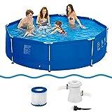 Jilong 6920388626972Kit piscine hors-sol avec pompe à filtre de cartouches, diamètre 300x 76cm, Sirocco Bleu