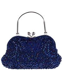 aebb517d3f1c6 LLUFFY-Clutch Handtasche Reine Handperlen bestickte Tasche Dinner-Party  Tasche Damen Handtasche