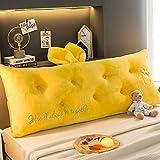 JWWOZ Cuscino Cuscino A Cuneo Ideale for La Lettura del Sonno Riposo Cuscino di Supporto Facile da Lavare E Lavare Orecchie di Coniglio Ampio Schienale (Color : H, Size : 150cm)