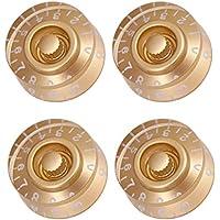 FLAMEER 4 Pcs Perilla de Guitarra Botón para Control de Volumen Potenciómetro de Velocidad para Producción