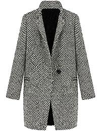 053024f06787 Bestfort Mantel Damen Elegant V-Ausschnitt Baumwolle Übergangsjacke Herbst  Steppjacke Langarm Warm Winterjacken Outdoor