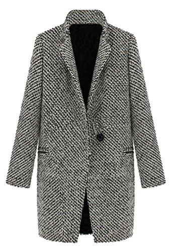 Bestfort Mantel Damen Elegant V-Ausschnitt Baumwolle Übergangsjacke Herbst Steppjacke Langarm Warm Winterjacken Outdoor