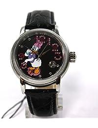 Disney Uhr Automatikuhr Daisy Duck Damenuhr Lederband Datum Strass Sammleruhr
