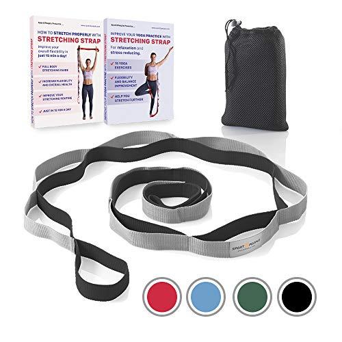 72998ec892fd2 Sport2People Sangle Stretch de Yoga pour Développer la Flexibilité avec 12  Passants