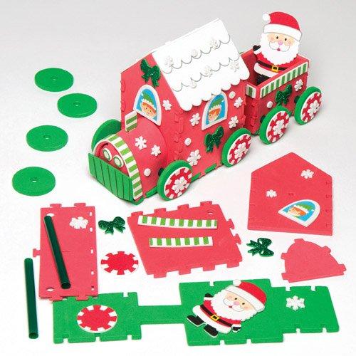 Bastelset für Weihnachtszug für Kinder zum Basteln und Verzieren zu Weihnachten – Kreatives Moosgummi-Bastelset für die Weihnachtszeit (Weihnachts Elfen Dekoration)