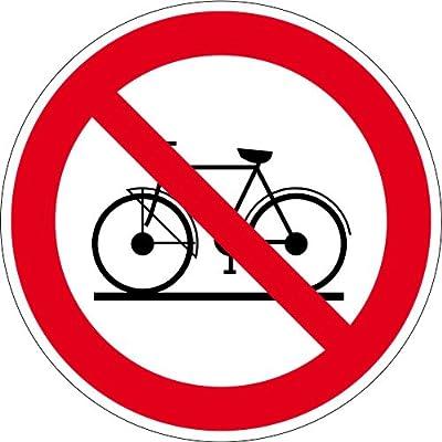 Verbotsschild aus Aluminium - Fahrräder verboten - Durchmesser 10 bis 40 cm