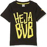 Puma Jungen Bvb Kids Fan Tee T-Shirt, Black, 116