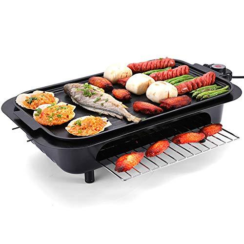 LINLIN Multifunktions BBQ Grill Elektroofen rauchfrei Antihaft Grillplatte Thermostat Auffangschale einfach zu Hause rauchlosen Grill zu reinigen -