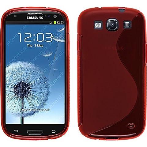 Funda de silicona para Samsung Galaxy S3 Neo - S-Style rojo - Cover PhoneNatic Cubierta + protector de