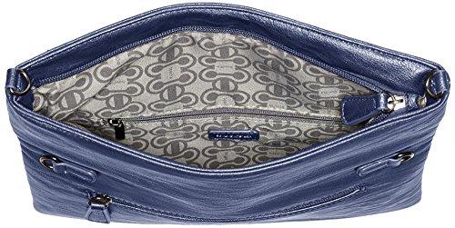 Boscha BO-1247-MT, Pochette Donna, 1x14x29 cm Blu (Mood Indigo)