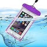 Fone-Case (Purple) Aldi MEDION LIFE E5005 Wasserdichte Tasche Universal Mobile Handy-Kamera Luminous-Beutel-trockener Unterwasser -Touch Responsive Abdeckung mit Sealed System Umweltfreundlich mit TPU Construction