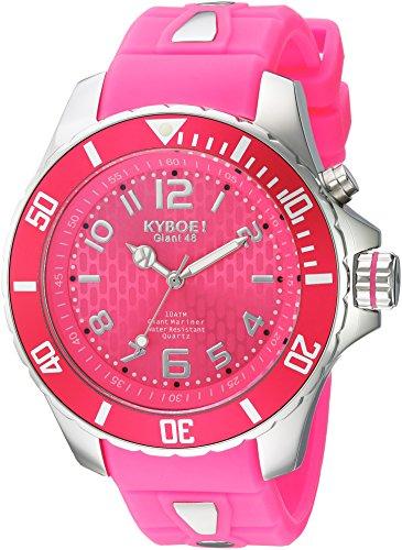 KYBOE Unisex-Adult Analog Quartz Watch with Silicone Strap KY.48-044.15
