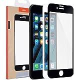 Protector de Pantalla iPhone 7, [2 Piezas] 3D Pro-Fit Protector de Prima de Cristal Templado de ULAK [Protección completa de la pantalla para el Apple iPhone 7 [Bordes curvados 3D para mejor ajuste]