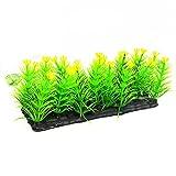 Greenlans Fleur Artificielle pelouse Herbe Aquarium en Plastique pour Aquarium, Jaune, Taille Unique