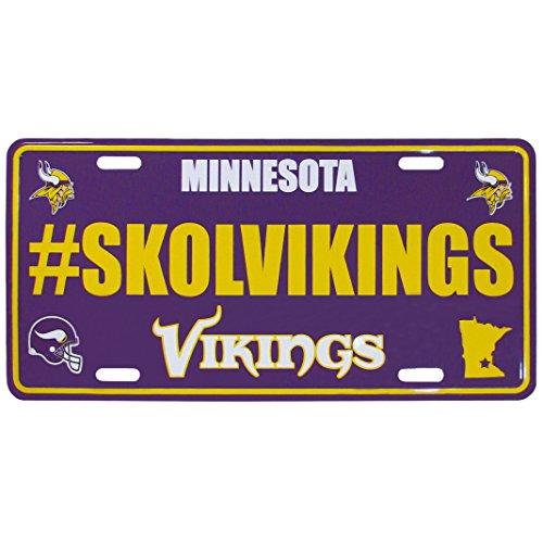 Siskiyou NFL Minnesota Vikings Hashtag License Plate (Minnesota Geburtstag Vikings)