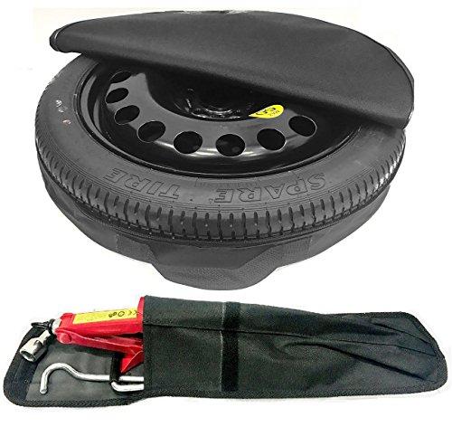 Kit d'outils de roue de secours pour Mercedes Série A 2012-2018 avec housse de protection (43,2 cm)