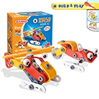 Joy-Jam Assemble Toys for 5-7 Year Old Girls Building Toys Building Bricks for Children STEM Toys Cute Assembly Aircraft Helicopter Christmas Birthday Gifts BSQ-6832