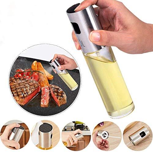 ba7c1b8dbb73 E-CHENG Olive Oil Sprayer for Cooking,Oil Spray Bottle Oil Sprayer  Dispenser Vinegar Bottle for BBQ, Making Salad, Cooking,Baking, Roasting  (Silver)