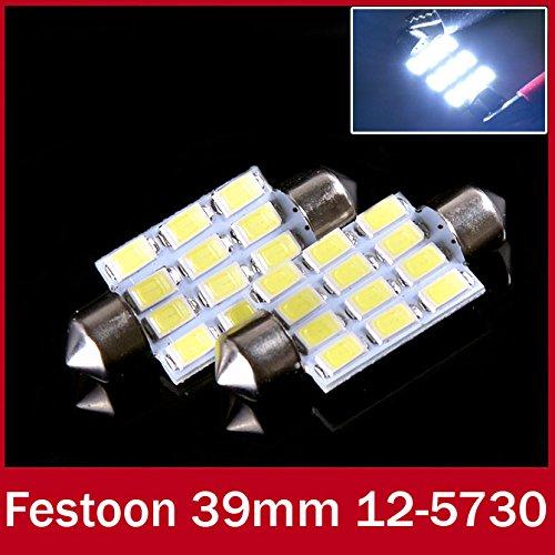 Paxten (TM) 2x LED festone auto 39mm