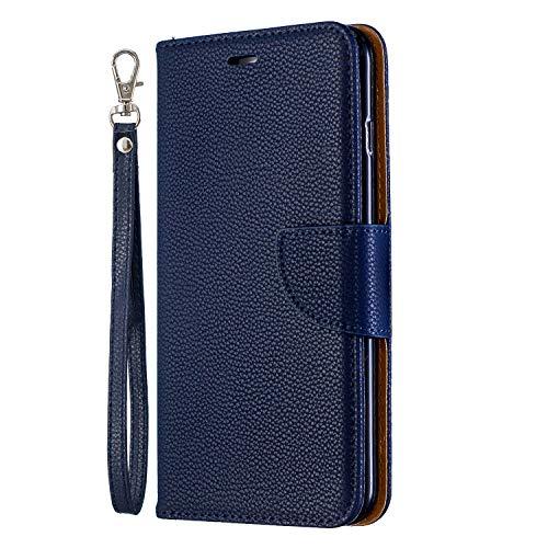 NEXCURIO iPhone 6S Plus/6 Plus Hülle Leder, Handyhülle Tasche Leder Flip Case Brieftasche Etui mit Kartenfach Stoßfest Schutzhülle für Apple iPhone 6SPlus/6Plus - NEBFE130009 Blau