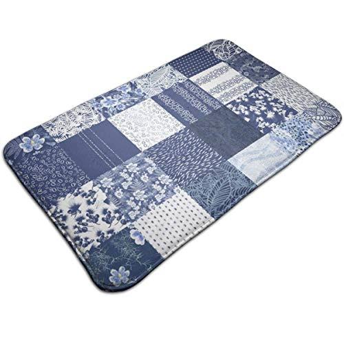 momnn Aloha Indigo 1-Yard Square Sampler_3239 Personalized Custom Doormats Indoor/Outdoor Doormat Door Mats Non Slip Rubber Kitchen Rugs 31.5 x 19.5 inch -