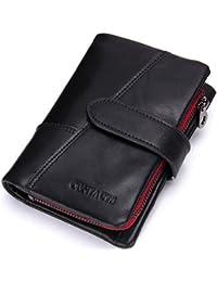 c37d52d693128 Yzibei Dauerhaft Die Erste Schicht Rindsleder Mann Handtasche Zero Wallet  Card Bag Mini und Praktische sowohl Männer und Frauen (Farbe…