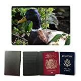 hello-mobile Couverture de passeport // M00136321 Patos Salvajes Aves Acuáticas Aves // Universal Passport Leather Cover