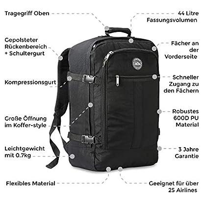 Cabin-Max-Rucksack-geeignet-als-Handgepck-im-Flugzeug-groer-Reiserucksack-mit-44-Litern-Fassungsvermgen