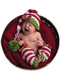 Kit de croche para bebe recien nacido, ideal para estudio de fotos, con gorro de cola larga y accesorios para las piernas a juego