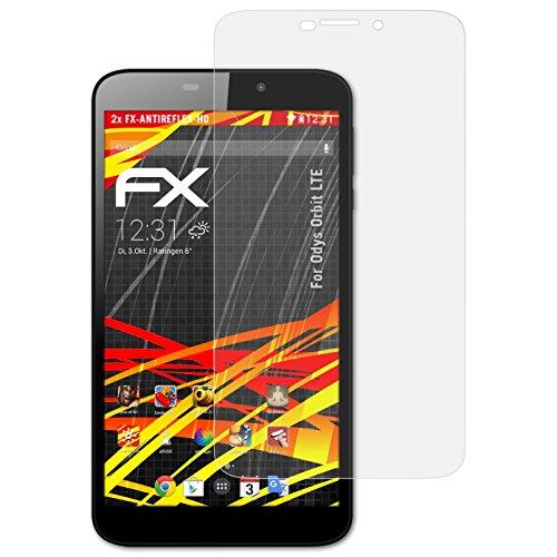 atFolix Schutzfolie kompatibel mit Odys Orbit LTE Bildschirmschutzfolie, HD-Entspiegelung FX Folie (2X)