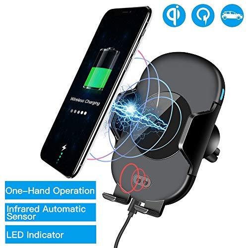 Automatische KFZ Ladegerät Drahtloses Handyautoladekabel Qi Induktions ladegerät Telefonhalter Wireless Fast Car Charger für iPhone XS X 8 Samsung Galaxy S9 S8 S7 6 Note 8 und andere Qi-fähige Geräte