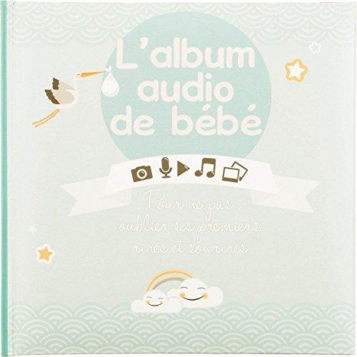 2 en 1 : Album de naissance mixte + boitier enregistreur - Coloris TURQUOISE Menthe Atmosphera