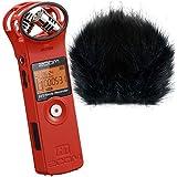 Zoom H1Red Edition V2.0Enregistreur stéréo MP3WAV keepdrum WS BK Protection anti-vent