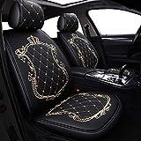 Housses de siège de voiture de la Couronne, entièrement entouré de siège unisexe, l'hiver en cuir sièges voiture, cuir PU et tissu respirant 3D