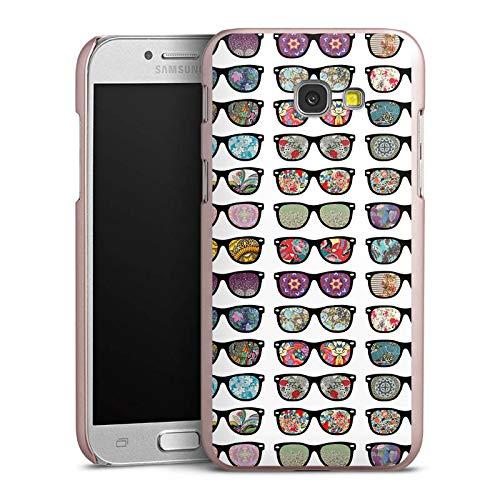 DeinDesign Hülle kompatibel mit Samsung Galaxy A5 Duos 2017 Handyhülle Case Glasses Brille Hipster