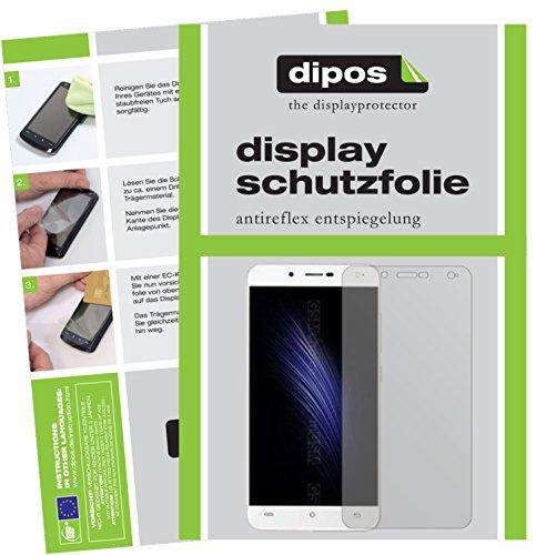 dipos I 2X Schutzfolie matt kompatibel mit Cubot Rainbow 2 Folie Displayschutzfolie