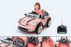 Voiture électrique enfant 6V avec télécommande parentale - Rose