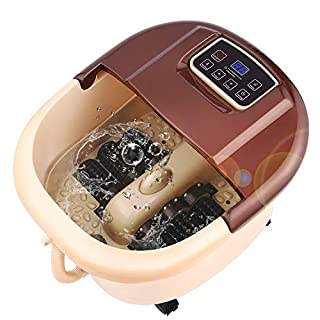 ANCHEER Foot Spa Bath Massage Motorized Massager with Heat and Massage and Jets, Adjustable Time & Temperature, LED Display